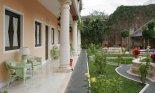 Courtyard of a hotel in Merida Yucatan Mexico