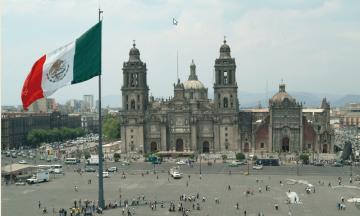 La Plaza de la Constitución, Mexico City. Mexico