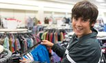 male teen clothes shopping