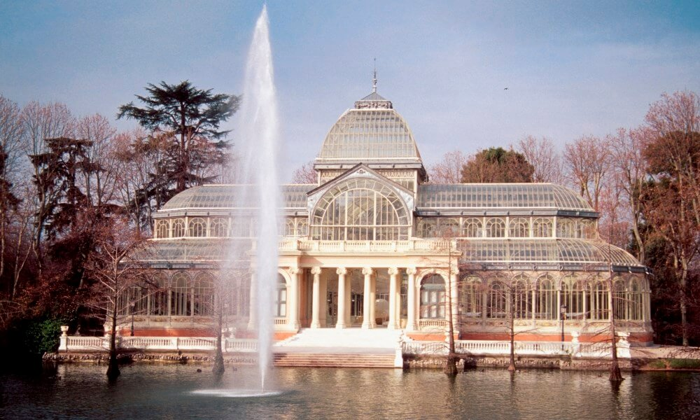Fountain in front of Crystal Palace, Madrid, Spain