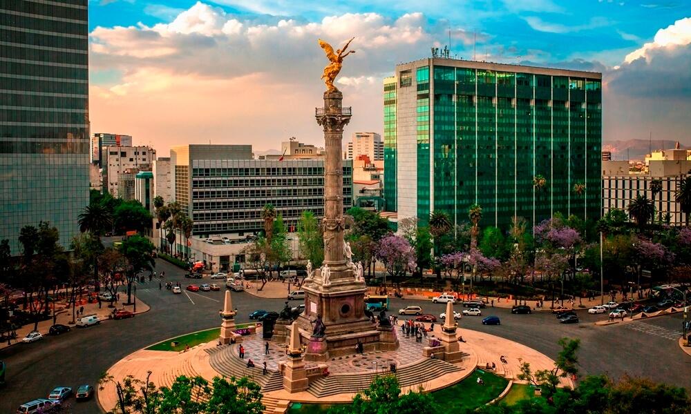 El Angel de Independencia, the most important landmark in Mexico