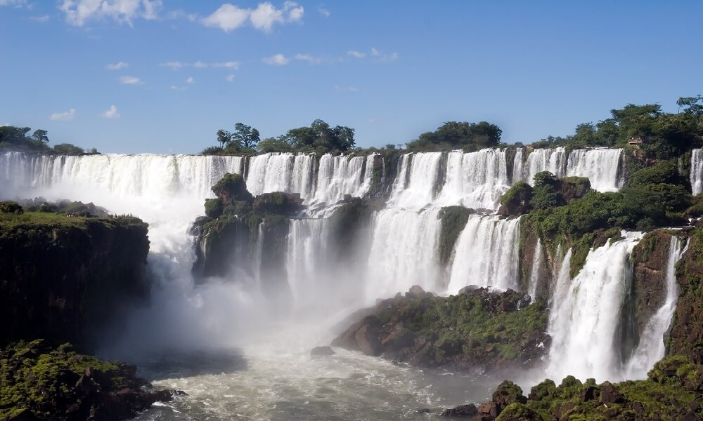 Argentina side of Iguazu Falls in South America