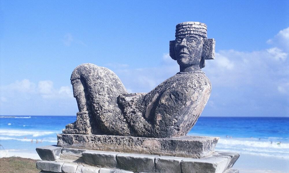 Chac Mool Mayan Figure