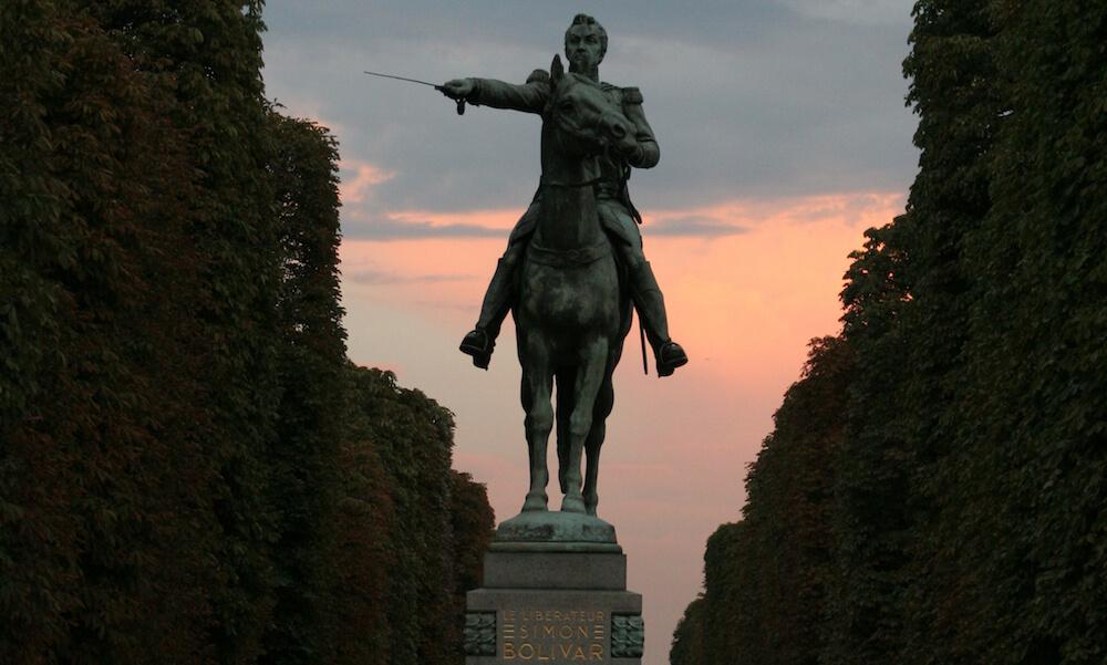 statue of Simon Bolivar, Paris, France