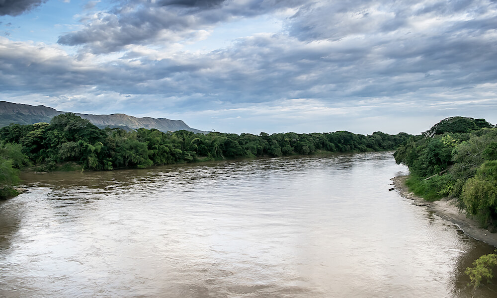 Dramatic picture of the Magdalena river, Colombia