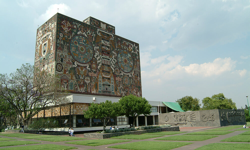 View of UNAM campus, Mexico