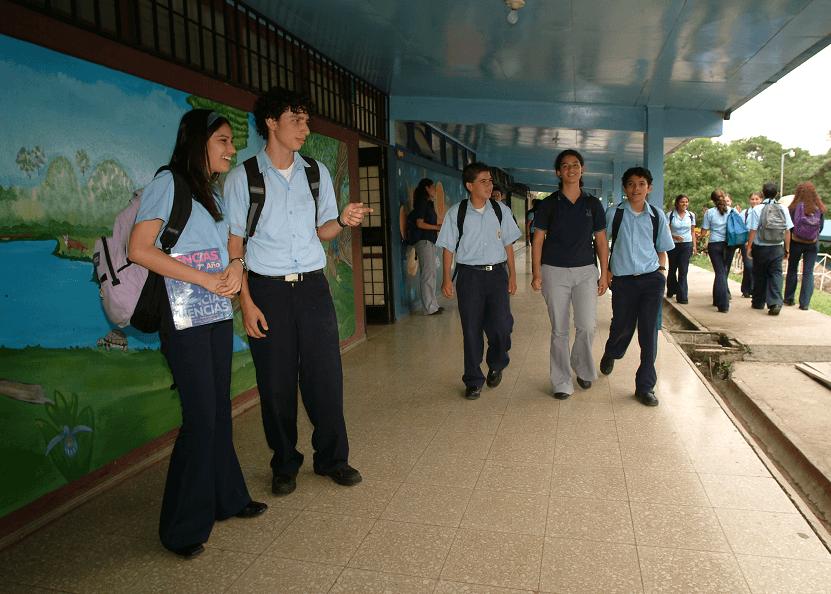 Costa Rican teens at school